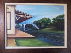 Estação Ferroviária, Ponte Alice Dias. Colina S.Paulo. Pintura Néia Pereira.