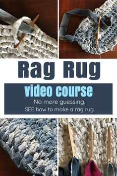 Have you ever wanted to make your own rag rug? Use this video course to learn how to make one(or many) using the Amish knot technique! These unique rugs last a lifetime! We still use the ones I made a decade ago! Treatment Projects Care Design home decor Diy Carpet, Rugs On Carpet, Carpet Ideas, Beige Carpet, Toothbrush Rug, Rag Rug Diy, Braided Rag Rugs, Homemade Rugs, Rag Rug Tutorial