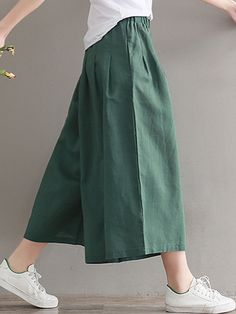 Daily Women's Basic Soild Color Loose Soft Pants in 2020 Japanese Pants, Japanese Outfits, Fashion Pants, Fashion Outfits, Fashion Top, Fashion Night, Fashion Edgy, Fashion Trends, Edgy Dress