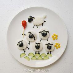 Almoço de ovelhinhas.
