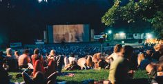 An outdoor cinema in Volkspark Friedrichshain. Berlin. More information on Berlin: visitBerlin.com