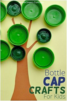 Bottle cap crafts for kids can be so much fun! Make an easy bottle cap game for kids using plain plastic bottle caps - in minutes! Check out these bottle cap crafts for kids of all ages, reusing materials that you already have. See what to do with bottle caps!