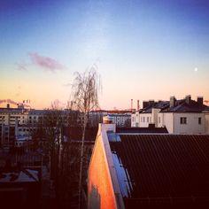 Kevät..? #goodmorning #grafter #Helsinki #sunrise #sunoverthecity