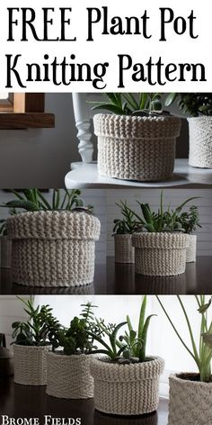 {FREE} Garter Stitch Plant Cozy Knitting Pattern – Brome Fields {FREE} Garter Stitch Plant Cozy Knitting Pattern – Brome Fields,Stricken Related work from home jobs to make a steady income working from homeself-employment-j. Love Knitting, Easy Knitting Patterns, Knitting Stitches, Crochet Patterns, Knitting Ideas, Yarn Projects, Crochet Projects, Small Knitting Projects, Knit Basket