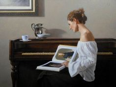 """""""Jessica With Ingres"""" by American Artist David Gray"""