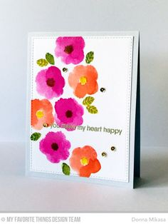 Pretty Posies, Because You, Blueprints 24 Die-namics - Donna Mikasa  #mftstamps