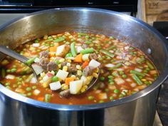 Homemade Vegetable Beef Soup