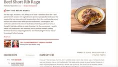 Part one of rib ragu