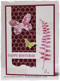 Fienchen´s Stempelwelt. Butterfly Basics on this pretty handmade card