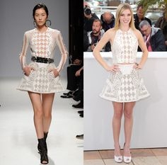 Balmain's Ruling the Runway and the Red Carpet, One Chic Checkerboard at a Time: Claire Julien at The Bling Ring Cannes Film Festival