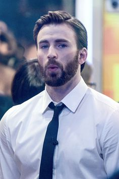 Chris Evans on the set of 'Good Morning America' on March 31, 2014 in New York City