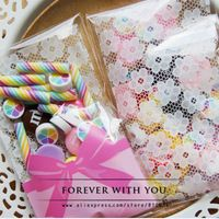 FREE SHIPPING rose flower bowknot cookie biscuit bags wedding gift self adhesive bakery packaging bags 100pc/lot 2.4*3.9+1.2""