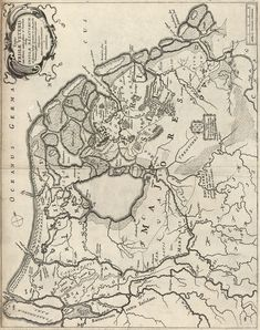 friese kaart van Bernardus Schotanus a Steringa. Onbekend jaartal Early World Maps, Holland Map, Hellenistic Period, Classical Antiquity, Old Maps, City Maps, Historical Maps, Netherlands, Vintage World Maps