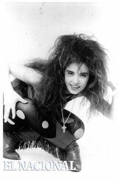Gloria Trevi, cantante mexicana. 08-08-1998 (ARCHIVO EL NACIONAL)