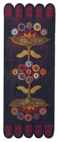 American wool penny rug.