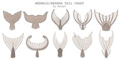 xelgot:  Mermaid/Merman Tail chart by XelgotThis chart was commissioned to use for reference. It might be  help for others too.