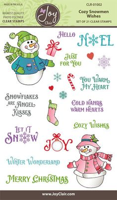 Snowman Clear Stamps for the Christmas Holidays