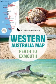 Get your own Western Australia road trip map - - Discover Australia's West Coast and immerse yourself in its pristine beauty. From canyons, deserts, secluded white sandy beaches to dolphins right on the beach and swimming with whale sharks. Australia Map, Australia Travel Guide, Queensland Australia, West Coast Australia, Broome Western Australia, Australia Honeymoon, Victoria Australia, Pacific Coast Highway, West Coast Road Trip