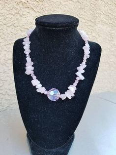 Check out this item in my Etsy shop https://www.etsy.com/listing/547982605/rose-quartz-chip-necklace