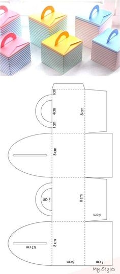 Caja para galletas - Cadeau ideeÃ«n Keksdose - Cadeau ideeà «n Paper Crafts Origami, Diy Origami, Diy Paper, Paper Crafting, Origami Ideas, Paper Gift Box, Diy Gift Box, Paper Gifts, Diy Jewelry Unique