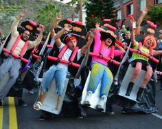 Does it get any better than this rollercoaster costume? Amazing.