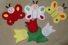 ujjbáb filcből, a három pillangó című mese Textiles, Educational Toys, Kindergarten, Arts And Crafts, Kids Rugs, Christmas Ornaments, Holiday Decor, Google, Manualidades