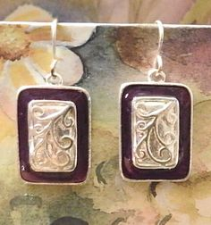 Vintage Jewelry Silver washed Dangle Earrings by DLSpecialties on Etsy