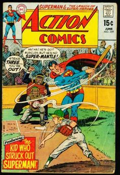 Action Comics - The Kid who struck out Superman! Old Superman, Superman Action Comics, Superman Comic, Dc Comics Art, Superman Family, Batman, Superman Logo, Spiderman, Dc Comic Books