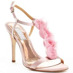 """""""Pretty in Pink"""" - Stylish Mischka badgley wedding Shoes Pink High Heels, Sexy Heels, High Heels Stilettos, Nude Heels, Badgley Mischka Shoes Wedding, Shoe Department, Pink Sandals, Shoes Sandals, Color Rosa"""