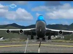 B747 dramatic takeoff from Saint Martin