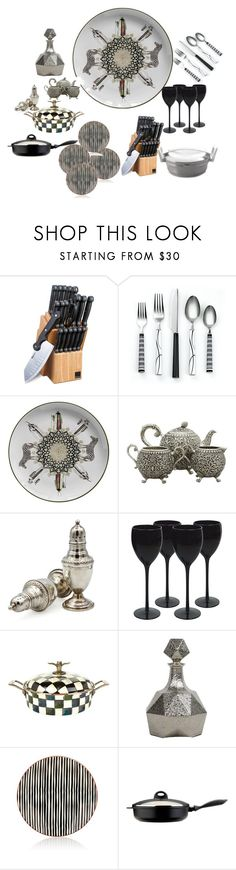 """""""in the kitchen"""" by explorer-15100508446 ❤ liked on Polyvore featuring interior, interiors, interior design, home, home decor, interior decorating, Vito Nesta, MacKenzie-Childs, Zafferano and BergHOFF"""