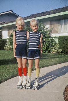 twins...I don't know these girls at all but I swear they look EXACTLY like me as a kid..it's insane