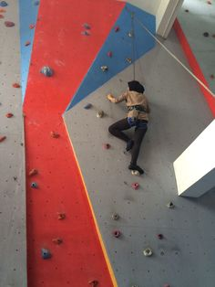 Indoor Wall Climbing. Photos taken on August 2015