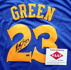 e329fd5b146 Draymond Green Golden State Warriors Signed Autographed Blue 23 Jersey PAAS  COA ** Visit the image link more details. (Note:Amazon affiliate link)