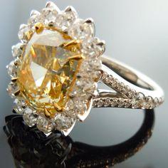 Canary diamond. My fucking wedding ring.