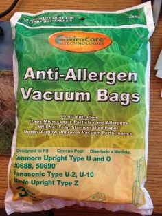 Kenmore Upright Allergen Filtration Cloth Vacuum Cleaner Bags. Fits Style 50688 and 50690 - 3pk.