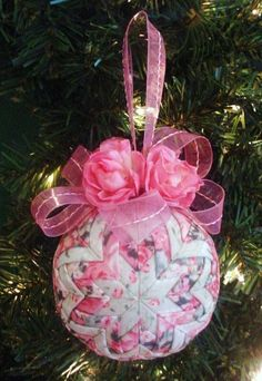 Quilted Christmas Ornament Tutorial Pattern by ChristmasOrnament, $4.95