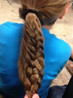 Four strand braid. Quick and easy:)