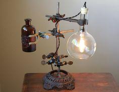 Industrial desk lamp steampunk lamp by OBJECTSofINDUSTRY on Etsy