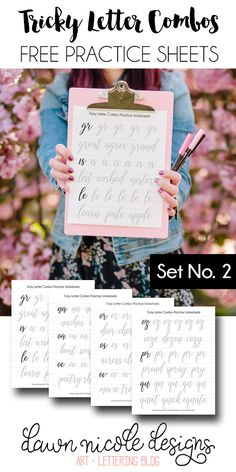 Tricky Letter Combo Practice Sheets: Set 2 of reader-requested letter combos!