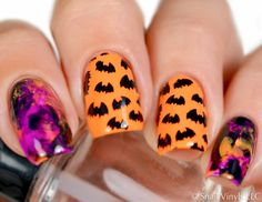Unleash a swarm of perfect bats onto your nails - get with the Halloween and…