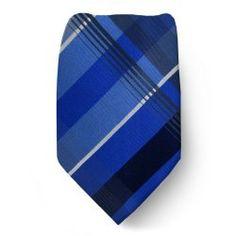 KC-230 - Blue - Gray - Kenneth Cole Designer Silk Necktie