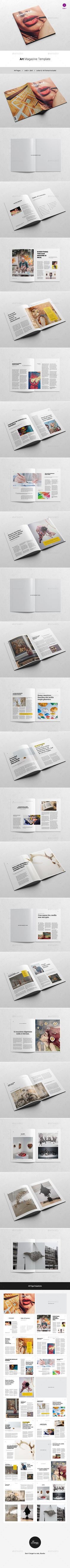 Hipster Journey Magazine  Indesign Template Indesign Neat