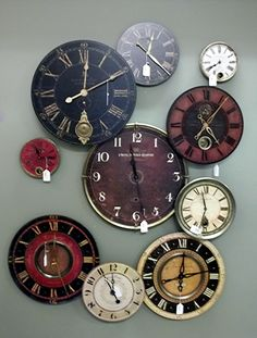 Check out our newest clock display, 1 of 3 different designs! Large wall clocks are an inexpensive way to change the design of any room. They become an instant focal point and have lots of different design elements to build from.