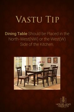The Dining Table is the Heart of the Home. Feng Shui And Vastu, Feng Shui Tips, Kitchen Vastu, Feng Shui House, Vastu Shastra, Puja Room, Decorating Small Spaces, Dining Room Design, Home Interior Design