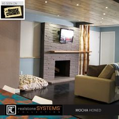 just aired on the DIY network. Love this transformation #fireplace #makeover #diy