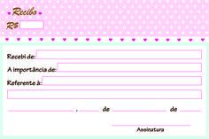 Recibo de pagamento para deixar seu ateliê mais organizado. Criado  por Kell Almeida do Cantinho Poá e compartilhado com muito carinho com as amigas artesãs. Espero que gostem e que possa ajudar vocês! Logo Atelier, Printable Labels, Printables, Planners, Bakery Logo, Paper Cake, Baby Alive, Pastel Art, Cartoon Wallpaper