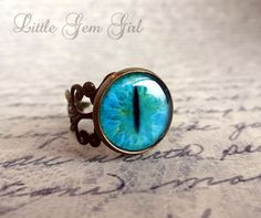 Cat Eye Ring  24 Eye Choices Available  Vintage by LittleGemGirl, $16.00