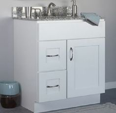 Image Gallery For Website JSI Dover Bathroom Vanity Cabinet White Door Left Hand Drawers VD V