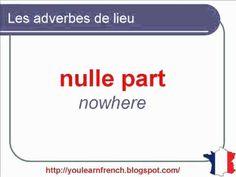 French Lesson 98 - Adverbs of place HERE THERE, etc...Les adverbes de lieu ICI LÀ LÀ-BAS....